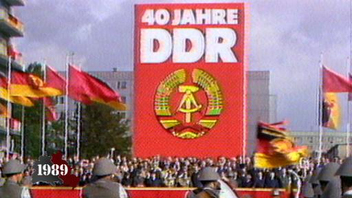 Gorbachev at GDR's 40th anniversary