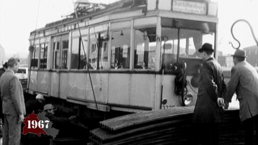 The tram disappears from West-Berlin